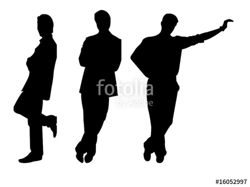500x375 Three Silhouettes Of Leaning Men Stock Image And Royalty Free