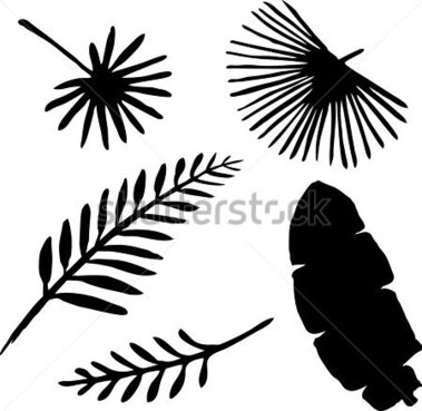 379x369 Tropical Leaves Clipart
