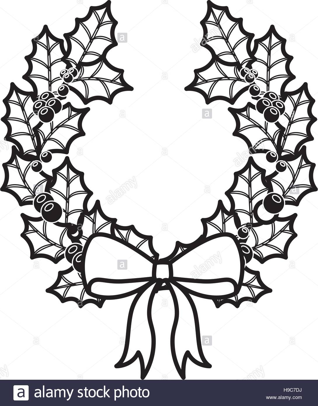 1089x1390 Crown Christmas Ornament Silhouette With Leaves Stock Vector Art