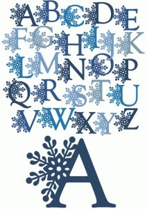 Silhouette Letters Of The Alphabet