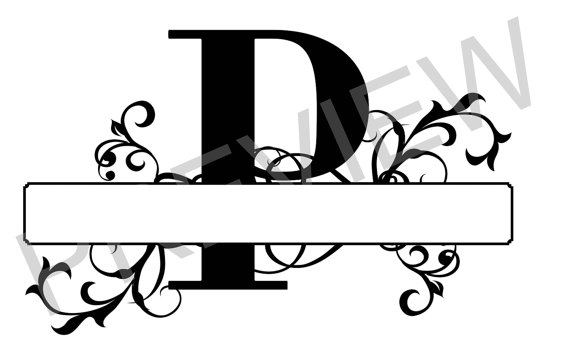 570x356 Split Monogram Svg, Letter P Regal Split Alphabet, Vector Files