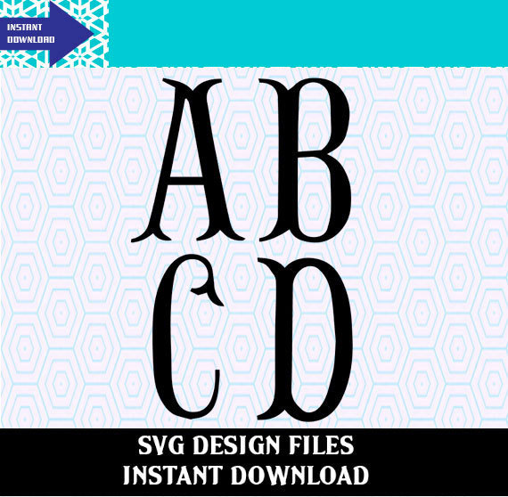 570x558 Fishtail Monogram Svg Alphabet Letters, Svg Files And Studio V3