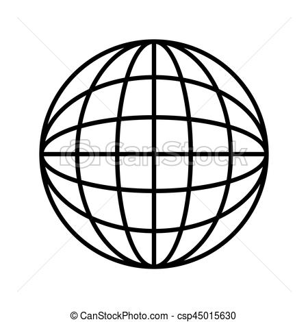 450x470 Silhouette Sphere With Lines Cartographic Vector Vectors
