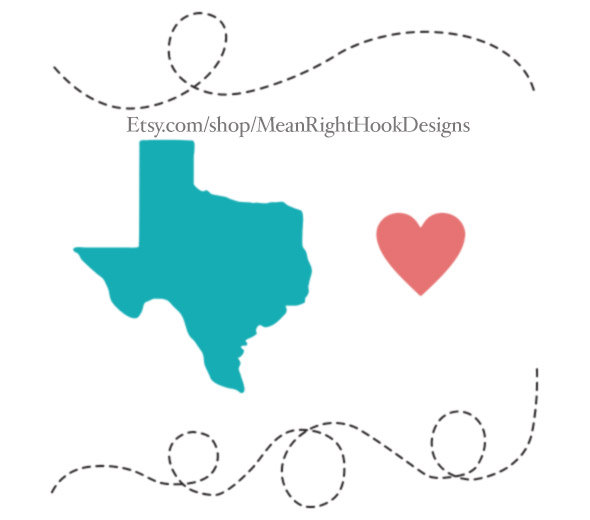 590x520 Texas Svg, Dotted Line Svg, Texas State Silhouette Svg, Heart Svg