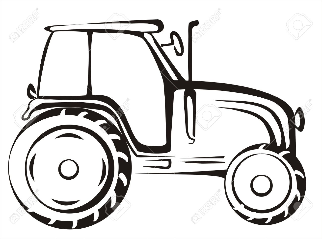 1300x967 Tractor Silhouette Clipart