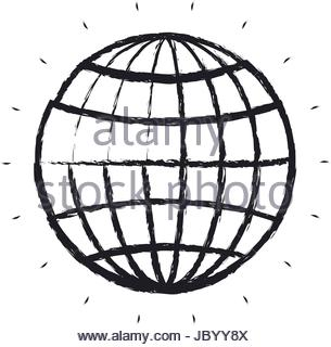 305x320 Blurred Silhouette Front View Globe Earth World Stock Vector Art