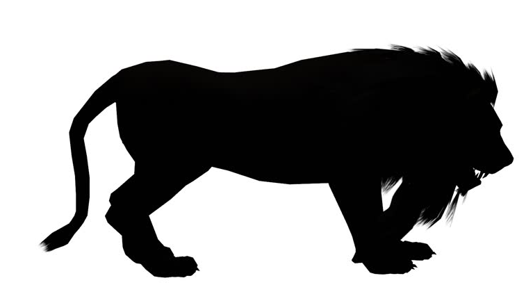 757x433 Lion Clip Art Black And White Images Free Download For Desktop