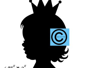 340x270 Little Girl With Hair Bow Silhouette Designer Resources