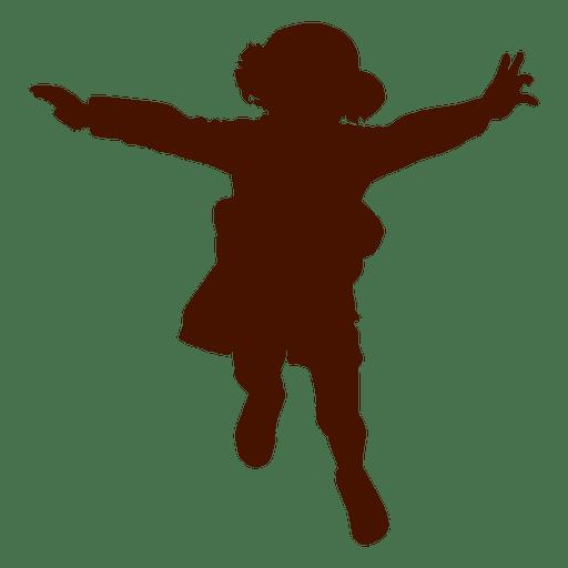 512x512 Little Girl Flying Silhouette