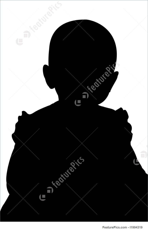 866x1360 Illustration Of Little Girl Silhouette