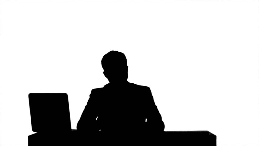 852x480 Silhouette Angry Boss With Female Worker In Office Stock Footage