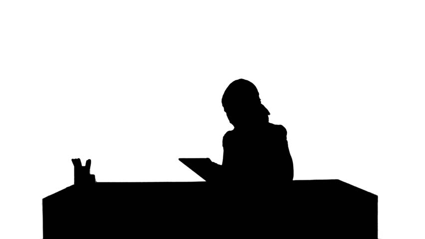 852x480 Silhouette Smiling Businessman In The Office On Video Conference