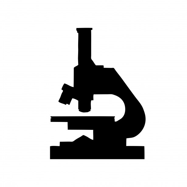 615x615 Microscope Silhouette Clipart Free Stock Photo