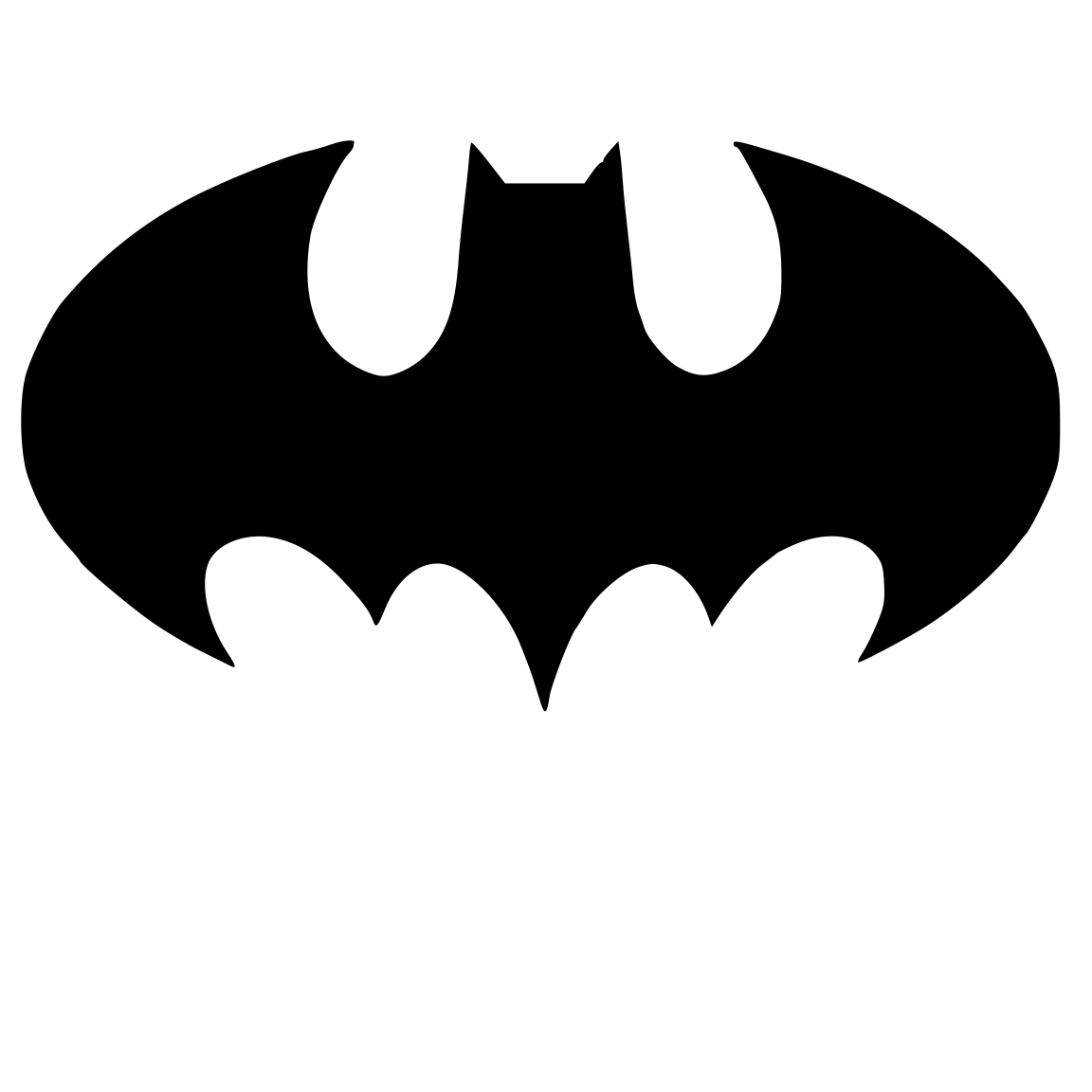 1152x1152 Cutting Files For You Batman Crafts Party