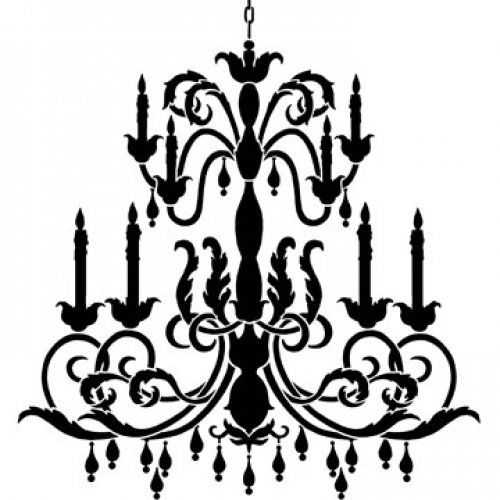 500x500 Simple Chandelier Stencil Reusable Stencil Lg Chandelier Stencil