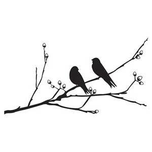 300x300 Love Bird Silhouette Branch Birds On A Branch Wall Sticker Craft