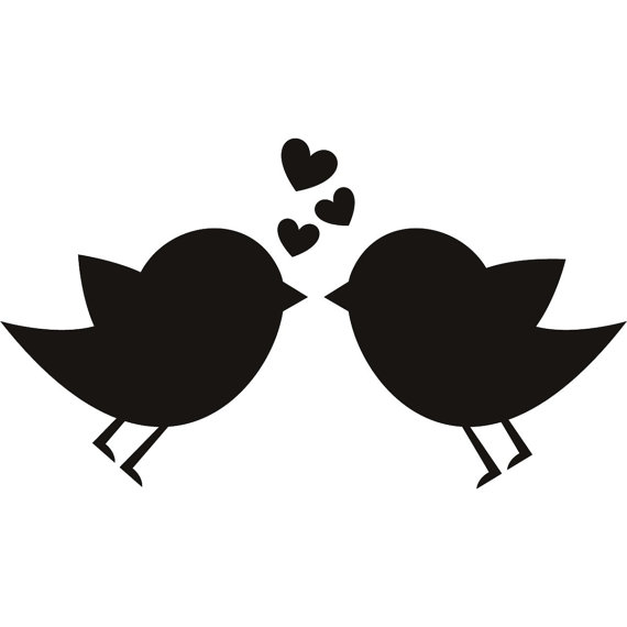 570x570 Birds In Love Vinyl Decal For Diy Craft Project By Deannebarreto