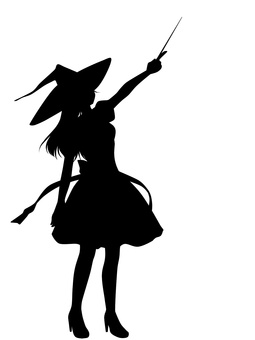 255x340 Free Cliparts Silhouette, Girl, Magic
