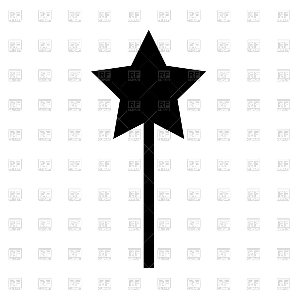 1200x1200 Magic Wand Silhouette Royalty Free Vector Clip Art Image