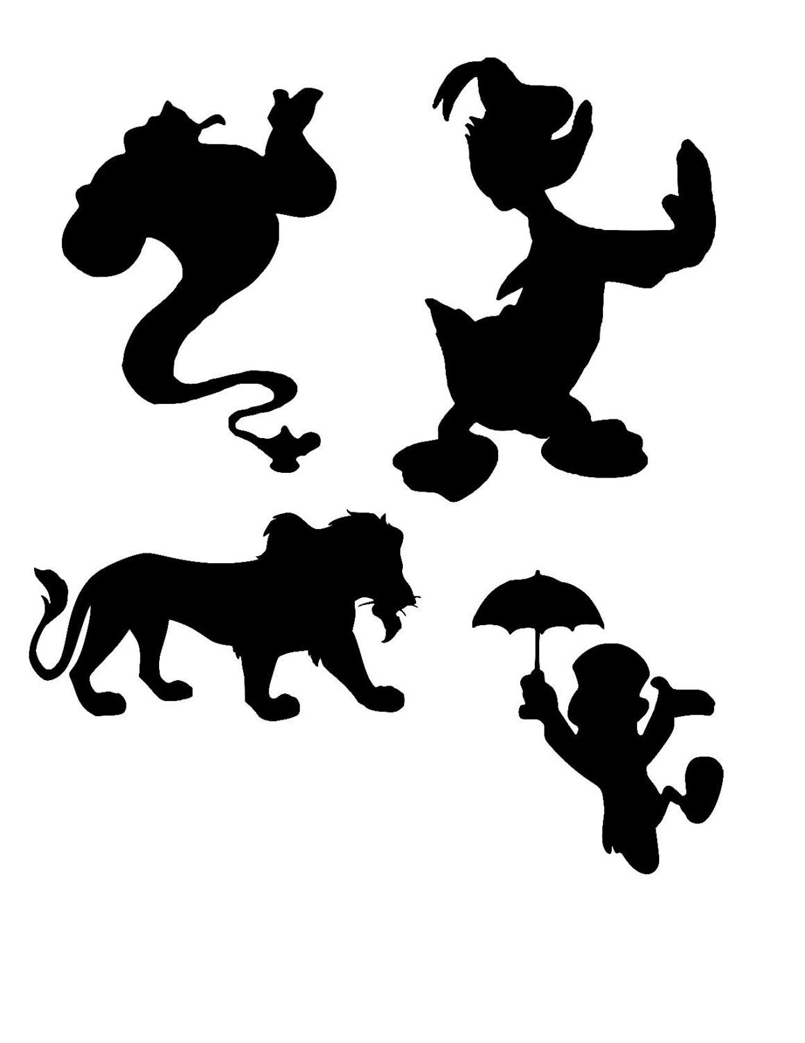 1159x1500 Disney Silhouette Svg, Disney Svg, Donald Svg, Disney Genie Svg