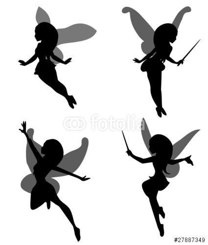 425x500 Fairy Silhouette Simple