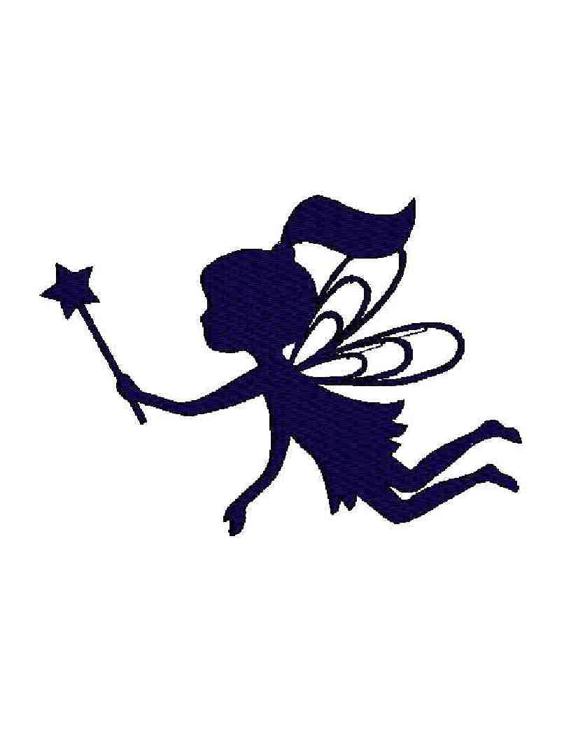 816x1056 Cute Silhouette Baby Fairy With Magic Stick Tattoo Design