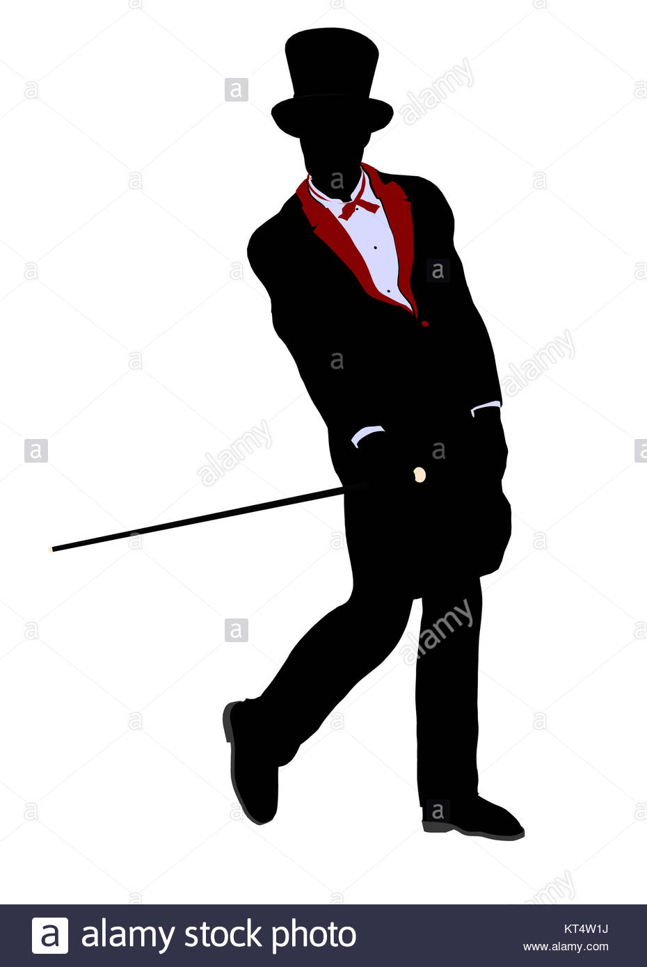 930x1390 Male Magician Silhouette Illustration On A White Background Stock