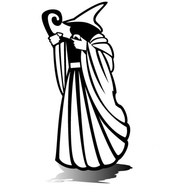 626x626 Mystical Wizard Silhouette Vector Illustration Vector Free Download