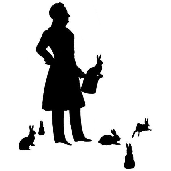 600x600 The Magician Silhouette Print Liked On Polyvore Featuring