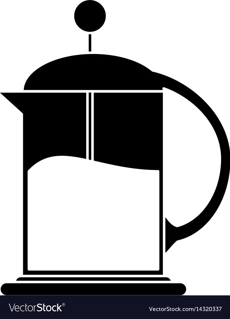781x1080 French Press Coffee Maker Pictogram Royalty Free Vector 1 Cup