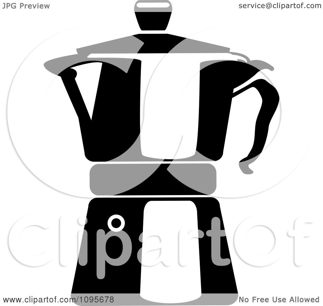 1080x1024 Clipart Black And White Coffee Maker 2