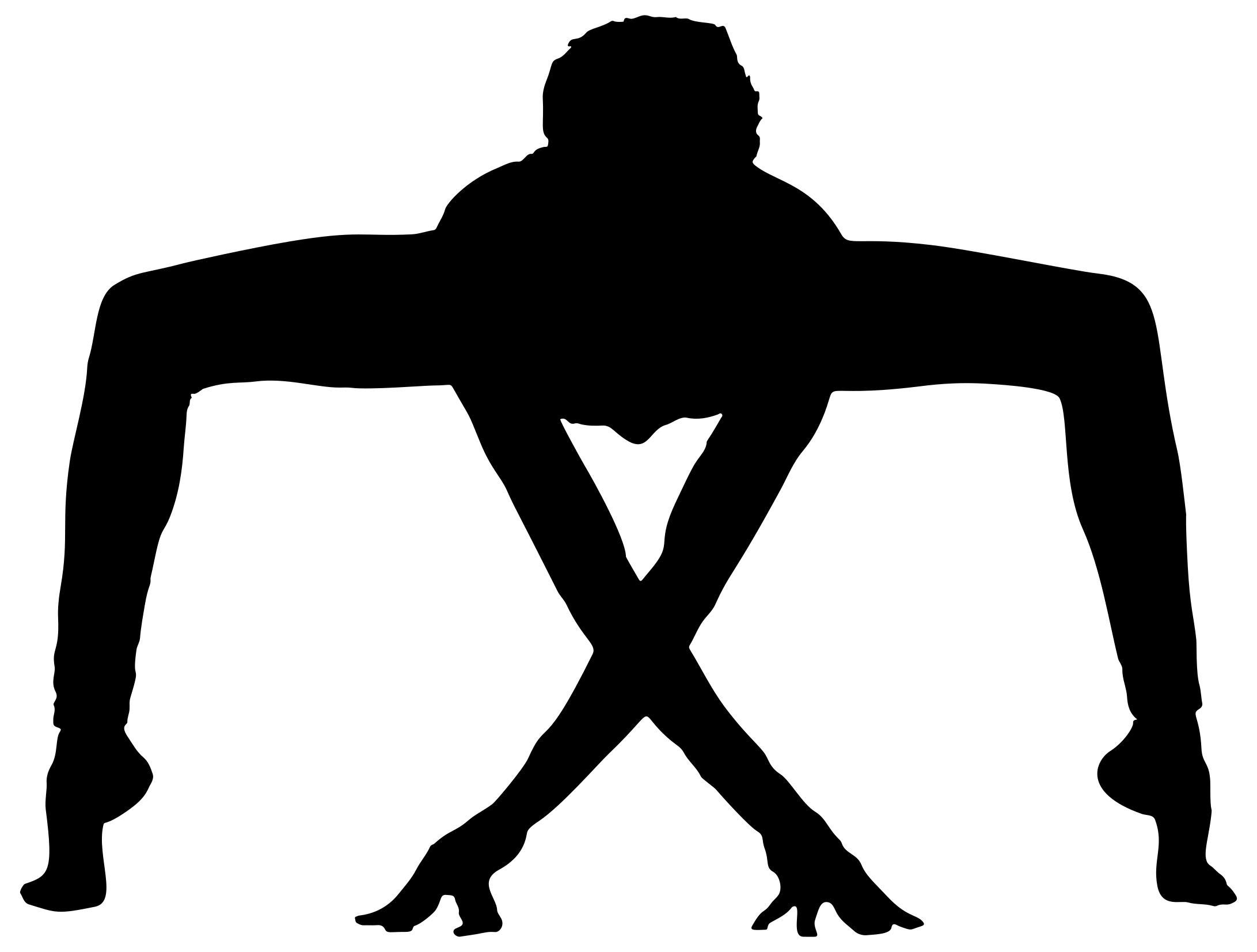 2183x1653 Male Yoga Pose Silhouette 3 Clipart