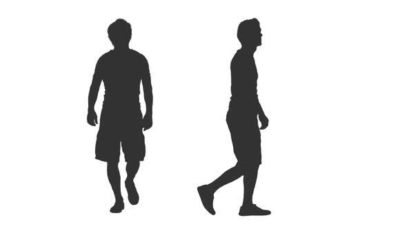 590x332 Male Silhouette Walking In Shorts, Alpha Channel By Mgpremier