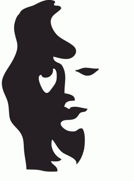 440x594 Free Silhouette Man And Woman, Hanslodge Clip Art Collection