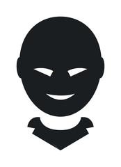 174x240 Unknown Person Vector Silhouette. Man Person Silhouette. Unknown