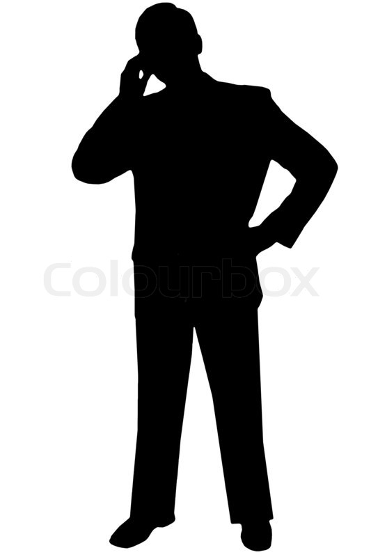 533x800 Man In Suit Leaning Silhouette
