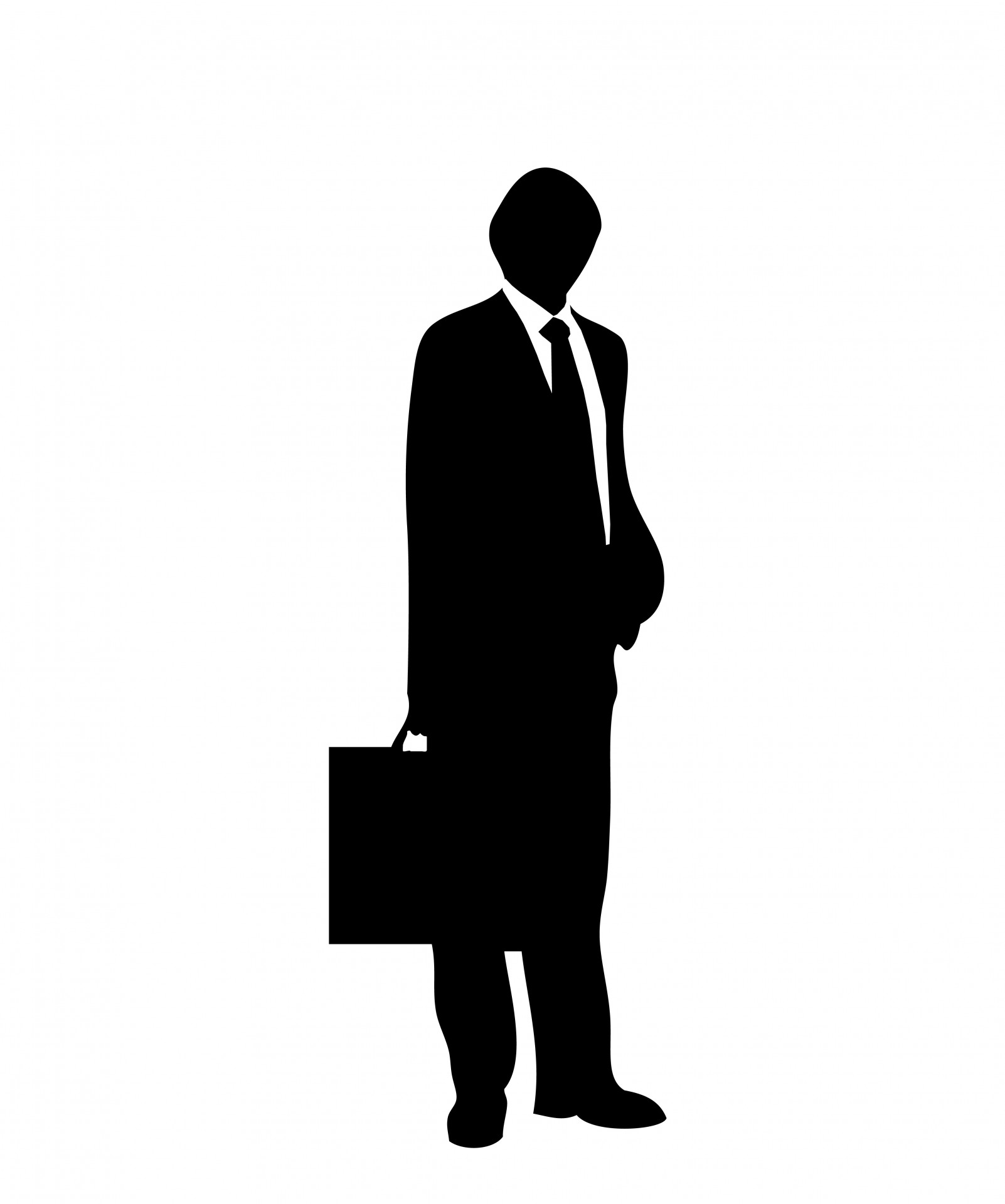 1602x1920 Man In Suit Amp Briefcase Free Stock Photo