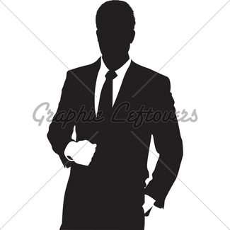 325x325 Silhouette Of Man In Suit Gl Stock Images