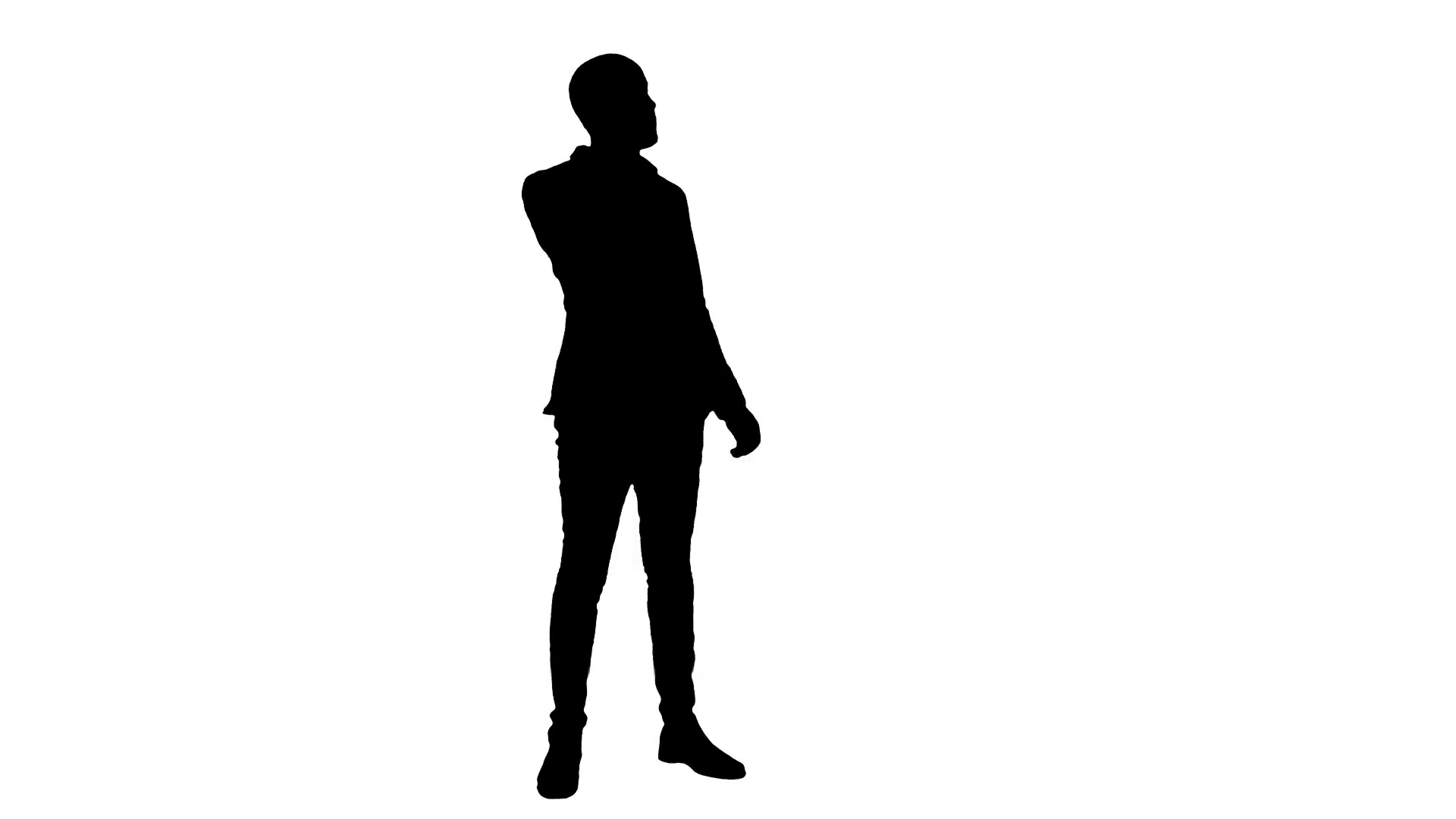 1920x1080 Silhouette Young Man In Suit Talking On The Phone And Actively