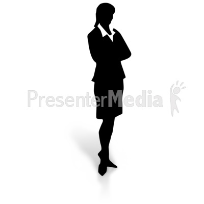 400x400 Silhouette Of A Man In Suit And Tie