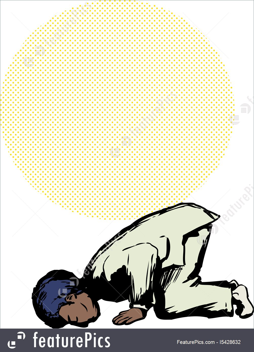1004x1392 Muslim Man In Sajdah Prayer Position Stock Illustration I5428632