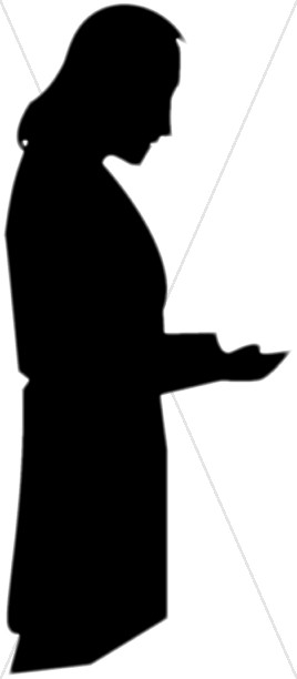 268x612 Silhouette Of Petition To God Prayer Clipart