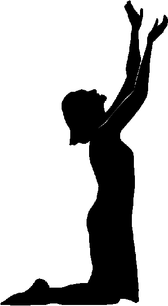 330x600 Clipart Of Praying Woman