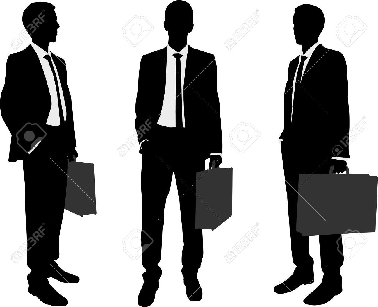 1300x1056 22428361 Businessman Holding Briefcase Silhouettes Stock Vector