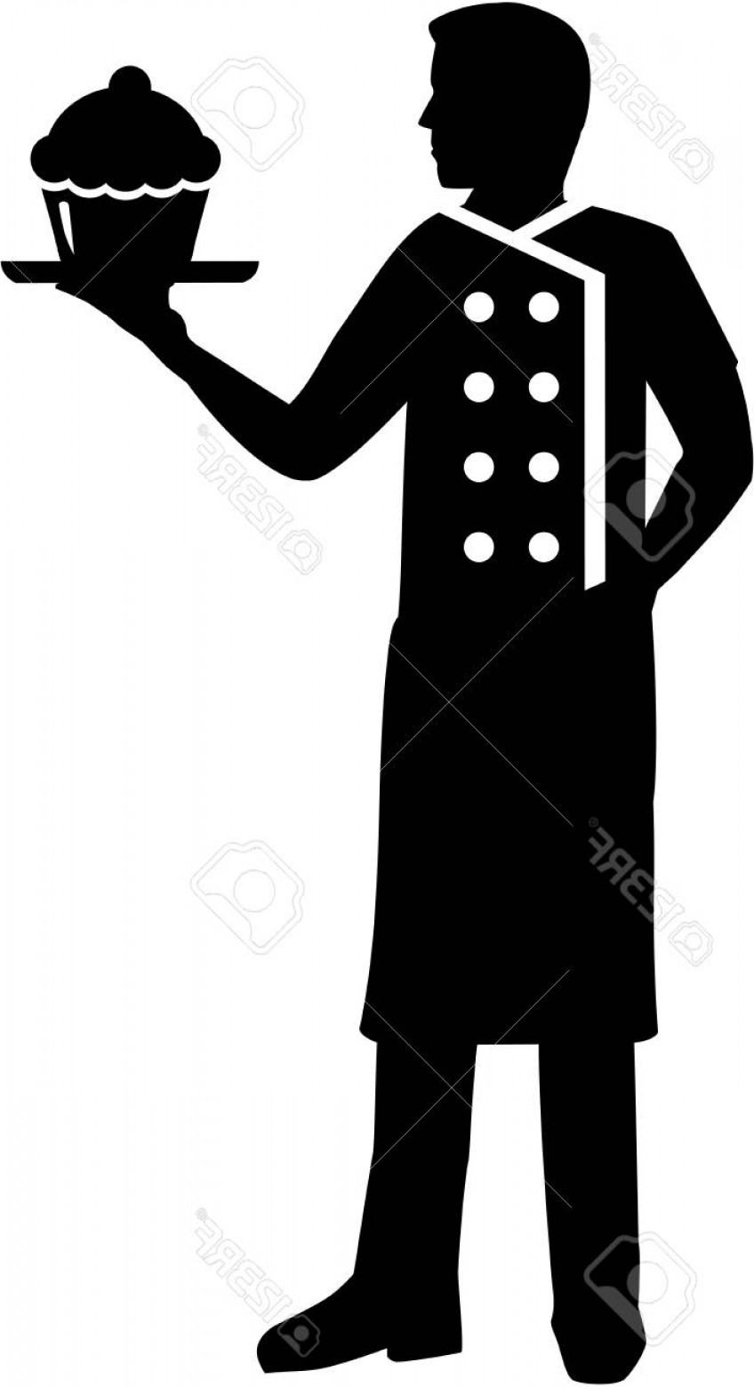 848x1560 Photostock Vector Pastry Chef Silhouette Man Shopatcloth