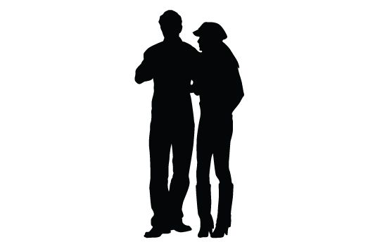550x354 Woman And Man Silhouette Vector Vector Free Download And Silhouettes
