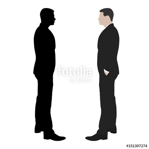500x500 Business Man Standing With Hands In His Pockets, Side View, Vector