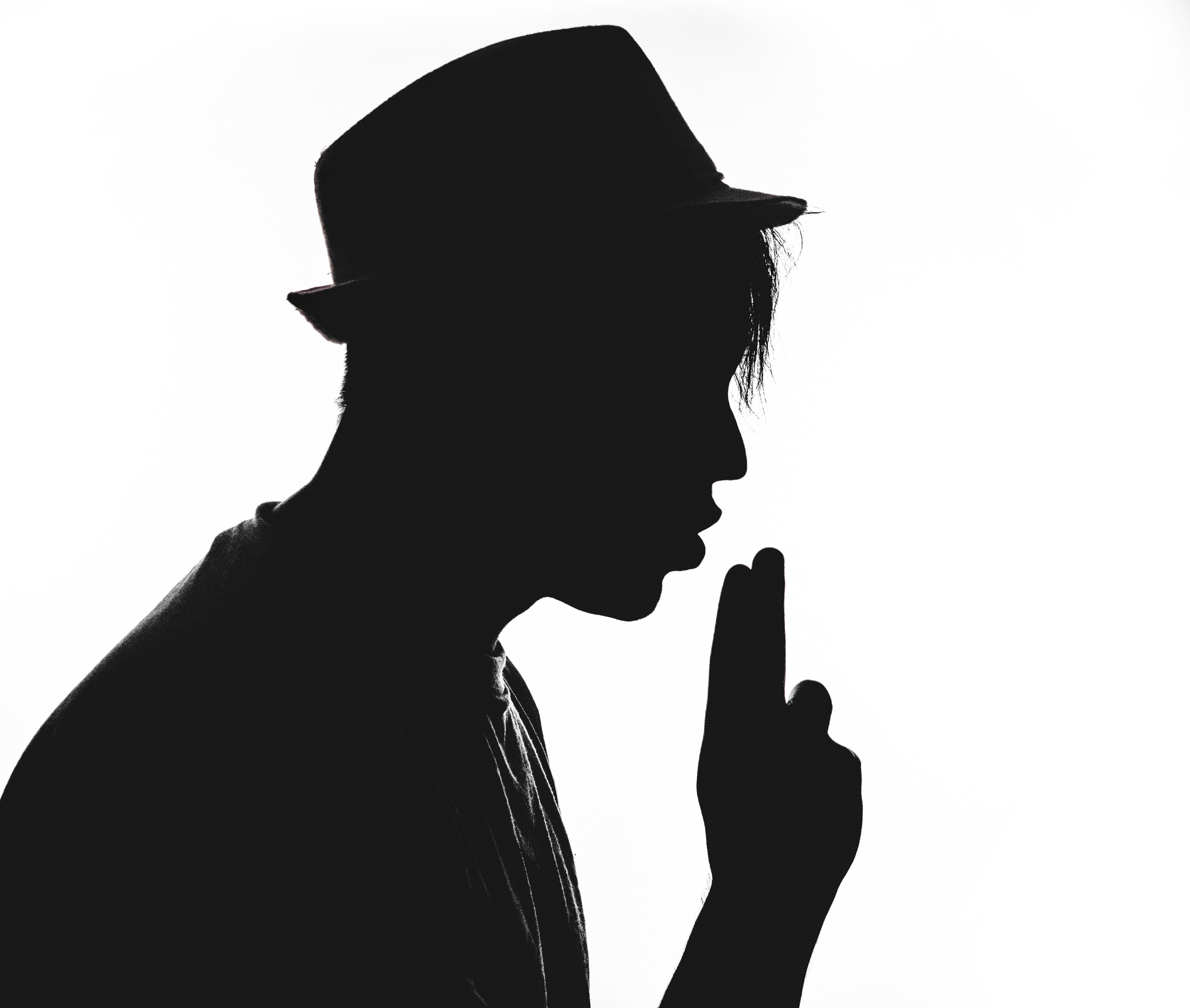 Silhouette Man With Hat