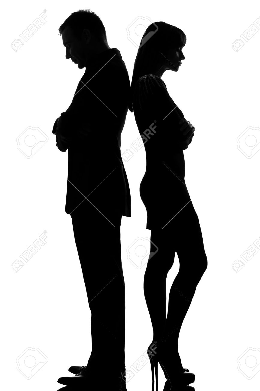 Silhouette Man Woman