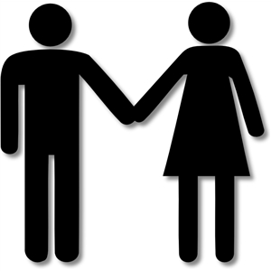 300x300 Clipart Man And Woman Holding Hands Silhouette